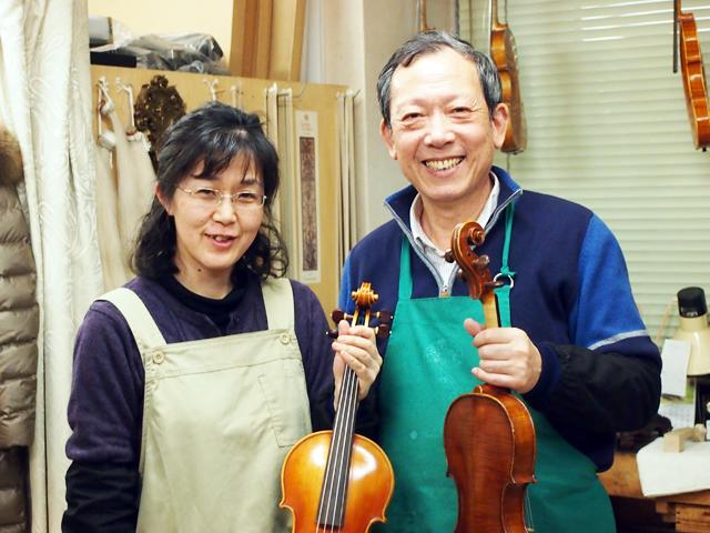 弦楽器トリオはバイオリン職人の店