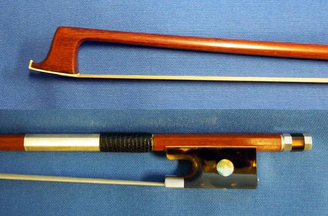 べっ甲フロッグ バイオリン弓